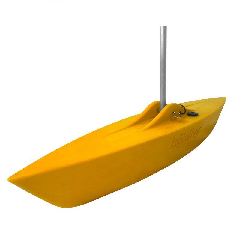 Bold Ivy Canoe Stabilizer Floats - Angle - Yellow