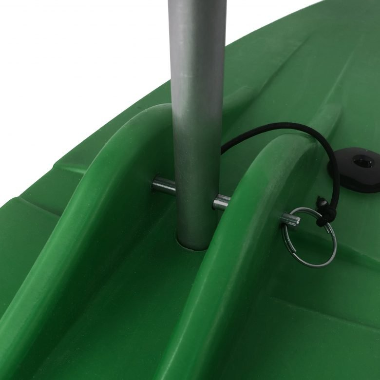 Bold Ivy Canoe Stabilizer Floats - Top Detail - Green
