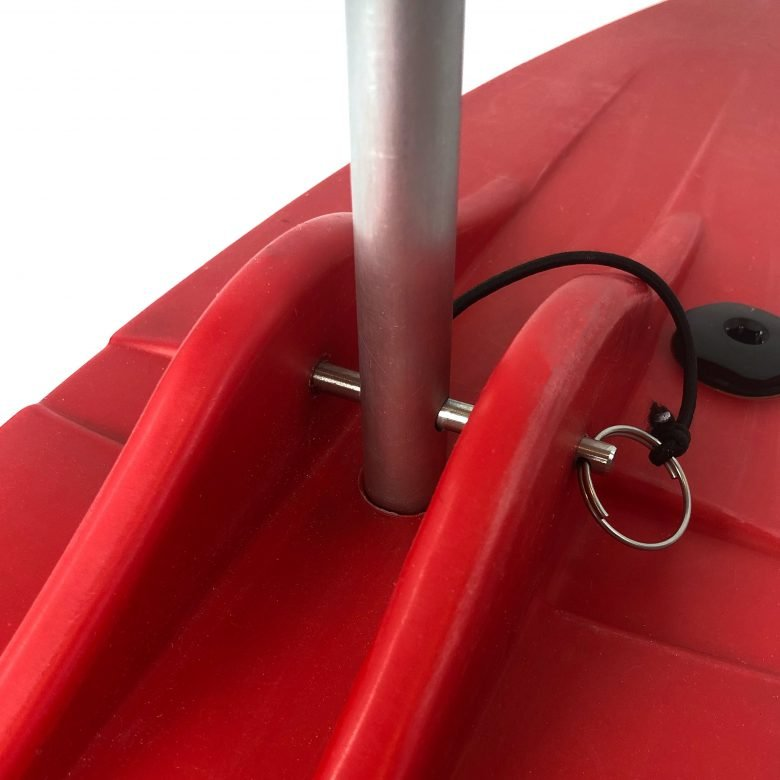 Bold Ivy Canoe Stabilizer Floats - Top Detail - Red