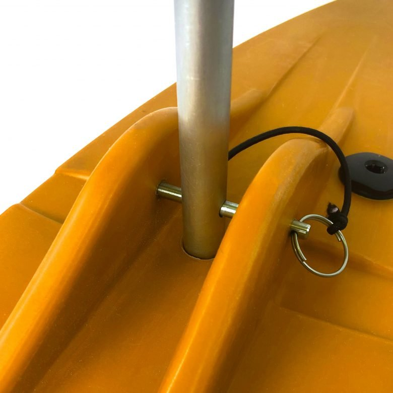 Bold Ivy Canoe Stabilizer Floats - Top Detail - Yellow